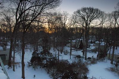 Prospect Street in Winter,  Summit NJ
