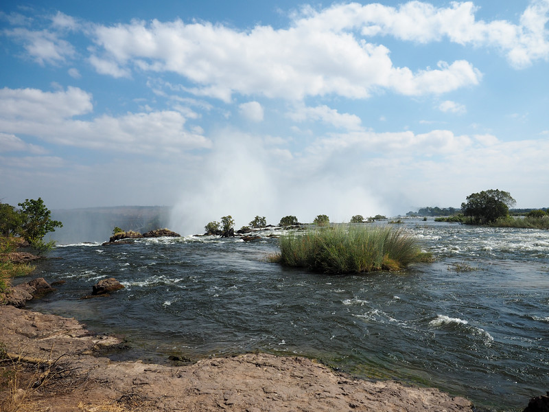 Zambezi River falling over Victoria Falls