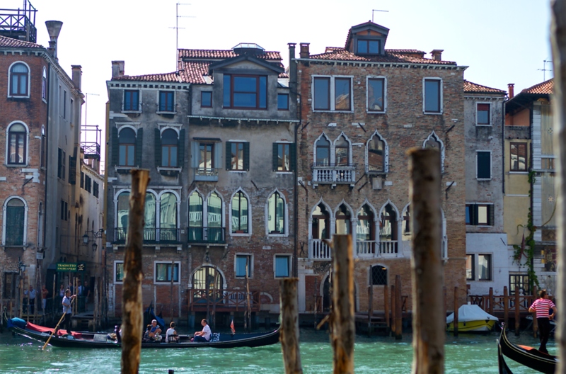 Homes on the Grand Canal, Venice, Italy