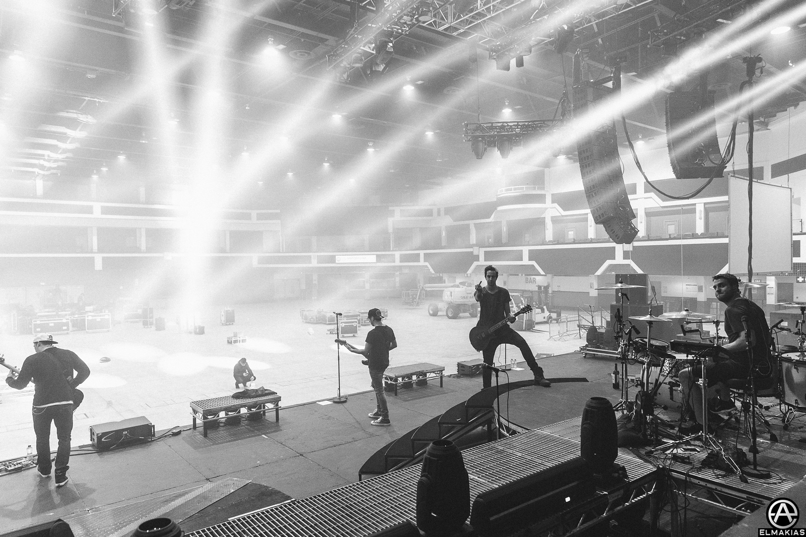 All Time Low rehearsals