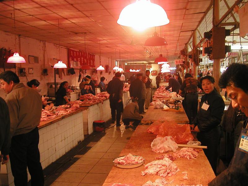 Beijing meat market - 2002