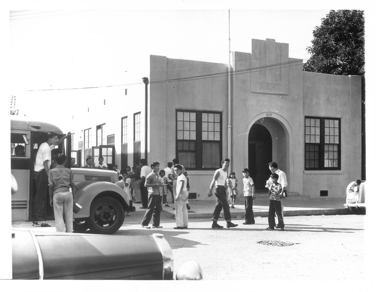 """""""Daini Gakuen is a Japanese language school operated by the Los Angeles Nippon Institute"""" -- caption on photograph"""