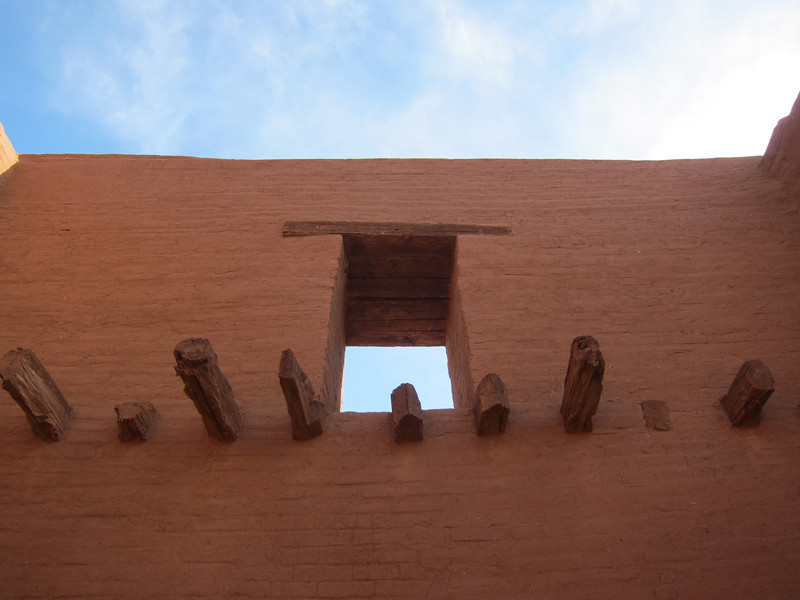 Inside of church remains at Pecos.
