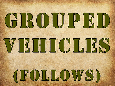 GROUPED VEHICLES, DIVIDER (NO PHOTOS)