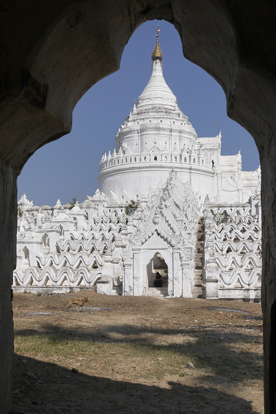 Hsinbyume Pagoda near Mingun, Mandalay.