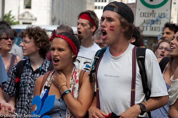 manifestation 22 juin Montréal
