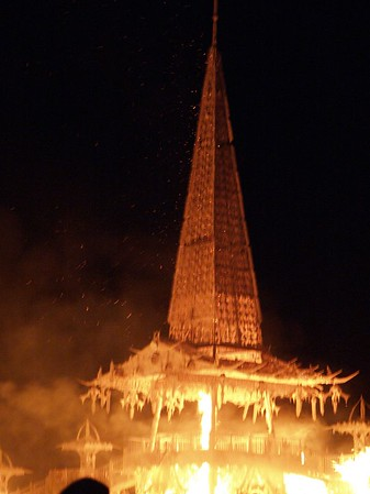 Burning Man 2004 The Temple Burn