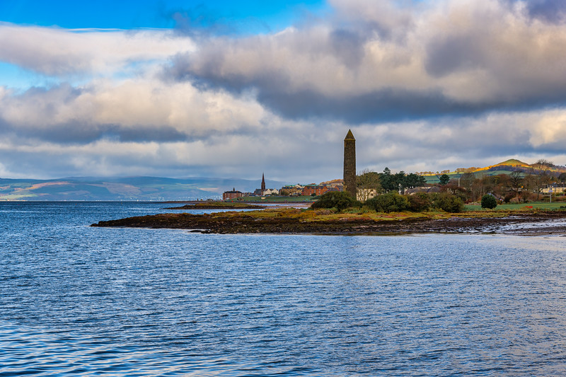 Largs Foreshore and the Pencil Monument