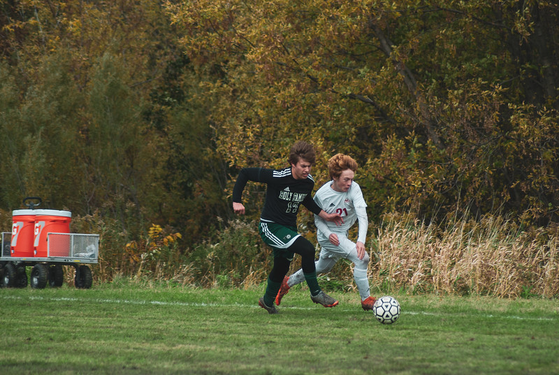 Holy Family Varsity Soccer vs. Mound Westonka Oct 13, 2018: Jake Bornhoft '19 (17)