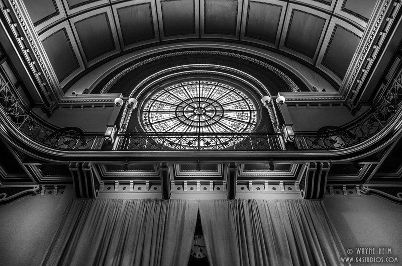 Ornate Window - Black & White Photography by Wayne Hein