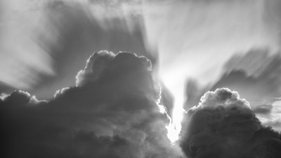 Amazing cloud (black and white)