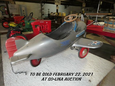 Pedal cars, pedal tractors & toys for FEB 22