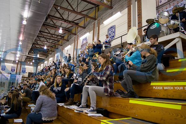 Geneseo Pep Band and Hockey Fans (Photos by Theo Liu)