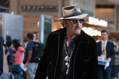 Johnny Hallyday and Family in LAX