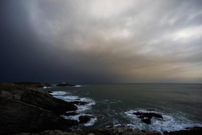 Amenaza tormenta en la Isla Pancha #Ribadeo #Galicia #Spain
