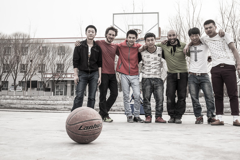 Basket Ball party with chineese students, China