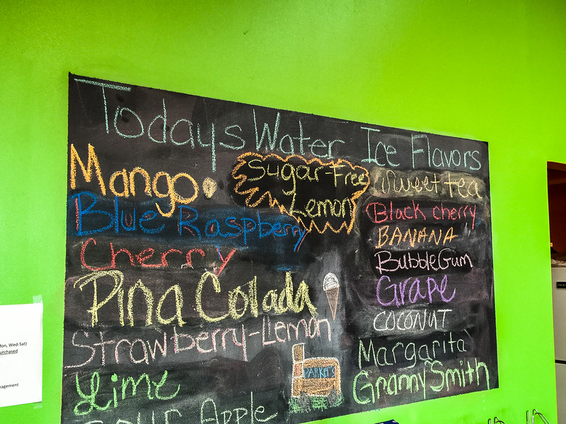 parkers water ice flavors