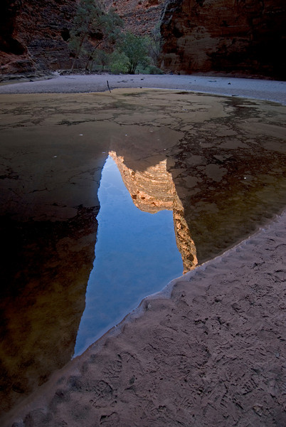 Bee Hive Dome Reflection in Pool 3, Purnululu National Park - Western Australia