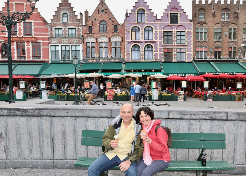 Ending our glorious time in Bruges at the same magical spot we began!