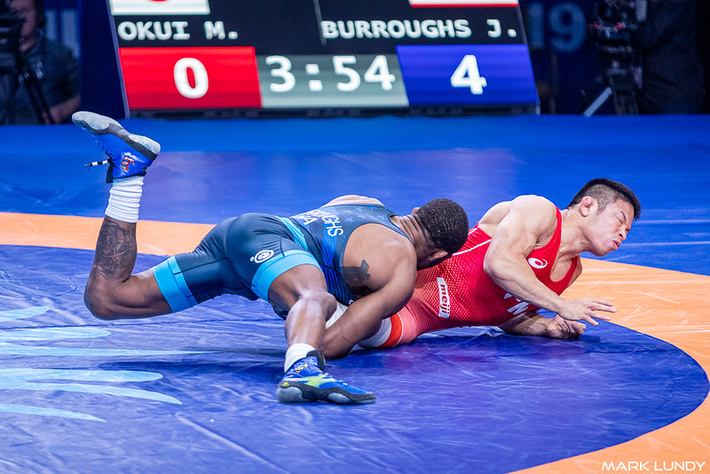 3rd Place Match: Jordan Ernest Burroughs (United States) over Mao Okui (Japan)  •  TF 10-0 - 2019 World Championships