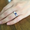.40ctw 3-Stone Sapphire and Diamond Band by Relais 15