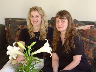 Sara & Aunt Joy.  Picture taken by Peter .