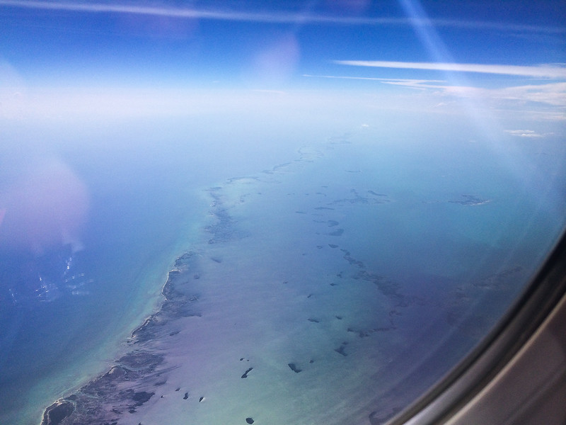Picture from our flight leaving Jamaica