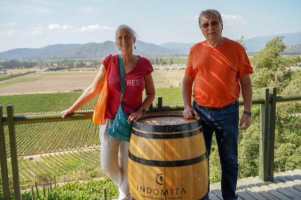 Testing chilean wine at Indomita vineyard Casablanca, Chile - January, 2019