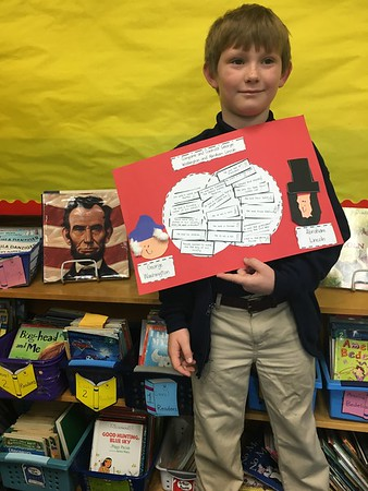 Our  compare and contrast project ! We learned a lot about George Washington and Abraham Lincoln!