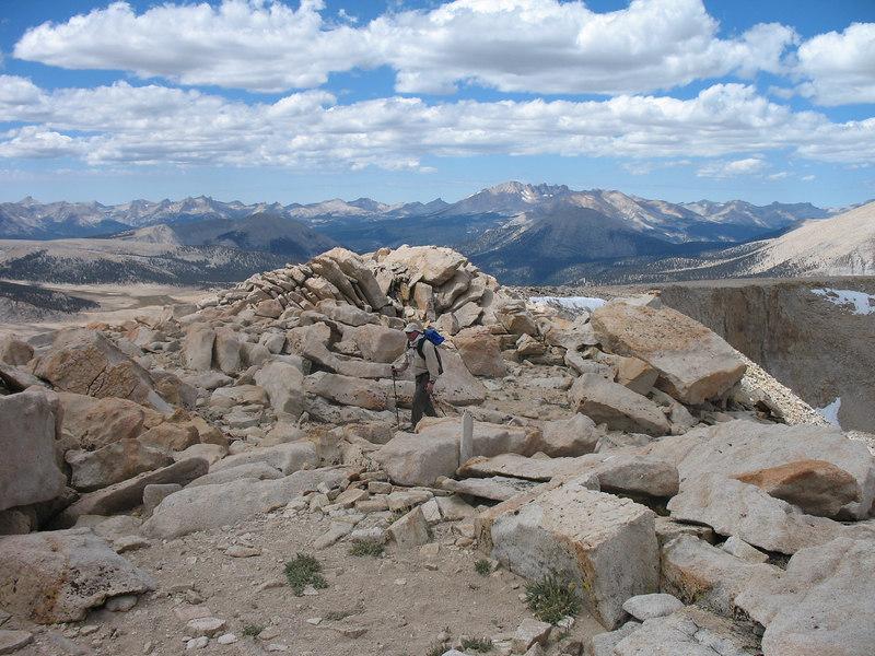 Jim arrives on the summit
