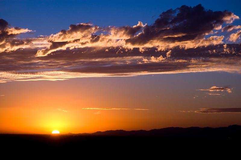 Brilliant sunset over Phoenix in November.