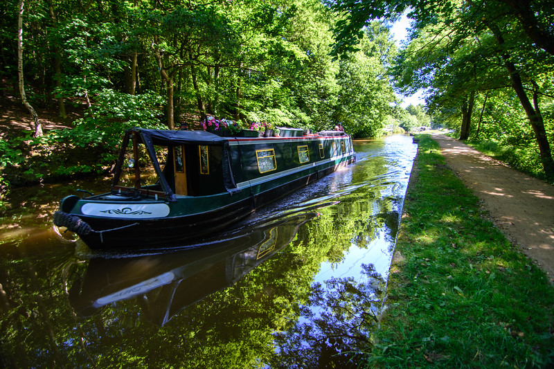 Narrowboat on the Leeds and Liverpool Canal