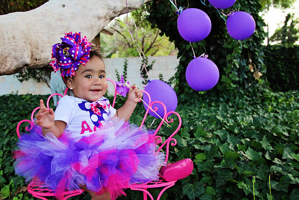 Aubri ONE Year Old Session