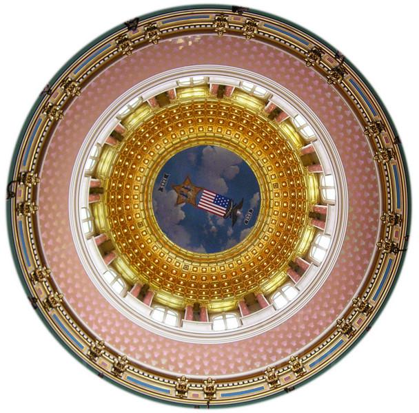 State Capitol Dome, Des Moines, Iowa.