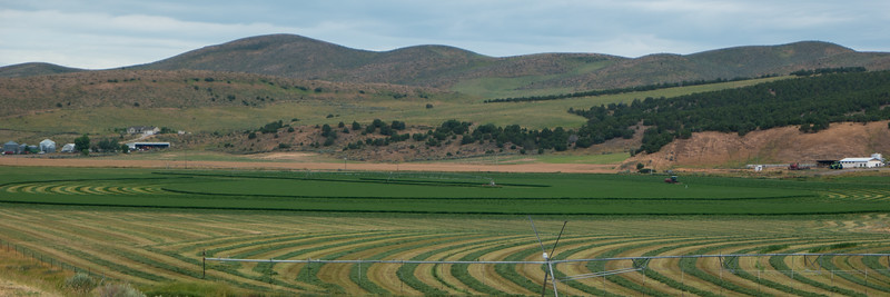 Utah Hay Farming I-84 Near Snowville