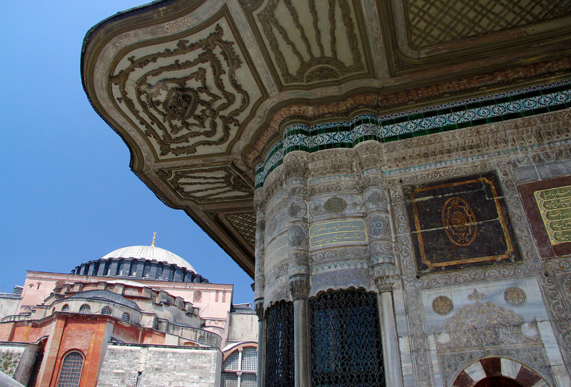 Hagia Sophia and the Fountain of Sultan Ahmed III