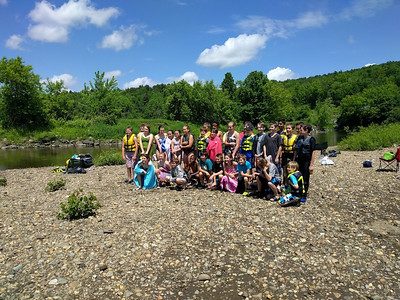 6th Grade Lamoille River Canoe and Float P.E. Field Trip 2016