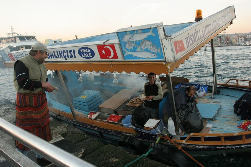 Fish Restaurant on a Boat, The Bosphorus