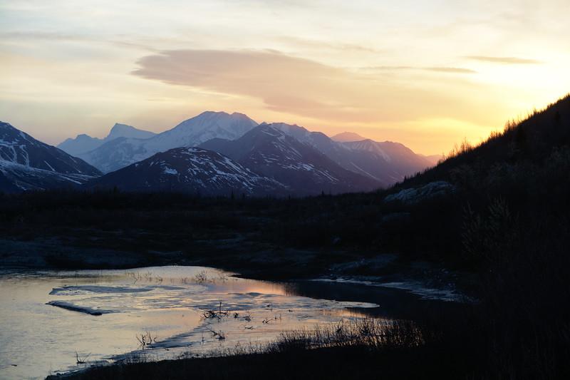 Alaska Range Sunset