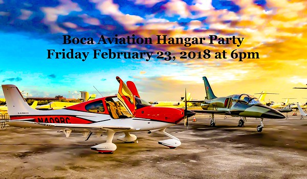 12th Annual Boca Aviation Hangar Party Friday 23rd February 2018 ~ Boca Raton Concours d'Elegance for 2018