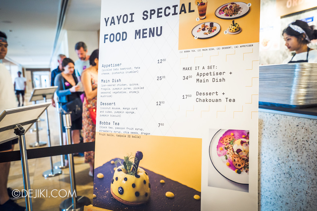 National Gallery Singapore - Yayoi Kusama: Life Is The Heart of A Rainbow / Cafe Menu Yayoi Special