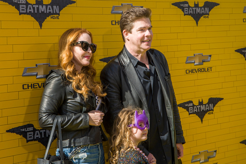 WESTWOOD, CA - FEBRUARY 04: Actor/radio personality Ralph Garman, wife Kari Watson and daughter Olivia attend the premiere Of Warner Bros. Pictures' 'The LEGO Batman Movie' at Regency Village Theatre on Saturday February 4, 2017 in Westwood, California. (Photo by Tom Sorensen/Moovieboy Pictures)