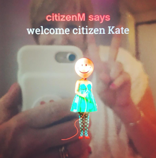 Citizen M welcome message