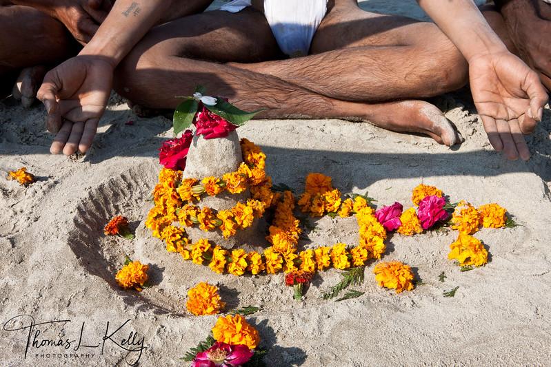 Sadhu initition at Kumbha Mela in Allahabad, India.