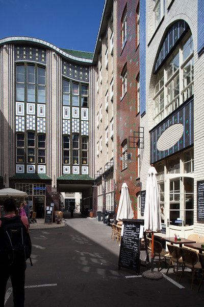 First courtyard, in Art Nouveau style, from the Hackeschen Höfe, Berlin, Germany