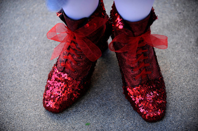 . Dorothy Nichols shows off her ruby boots as a part of her Dorothy from the Wizard of Oz costume during Denver Comic Con at the Colorado Convention Center on June 2, 2013 in Denver, Colorado. (Photo by Seth McConnell/The Denver Post)