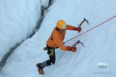 Ice Climbing with Brett W