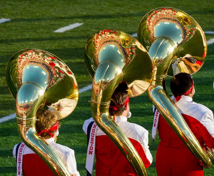 We reflect upon the tubas.