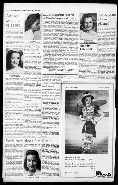 Daily Trojan, Vol. 36, No. 119, May 10, 1945