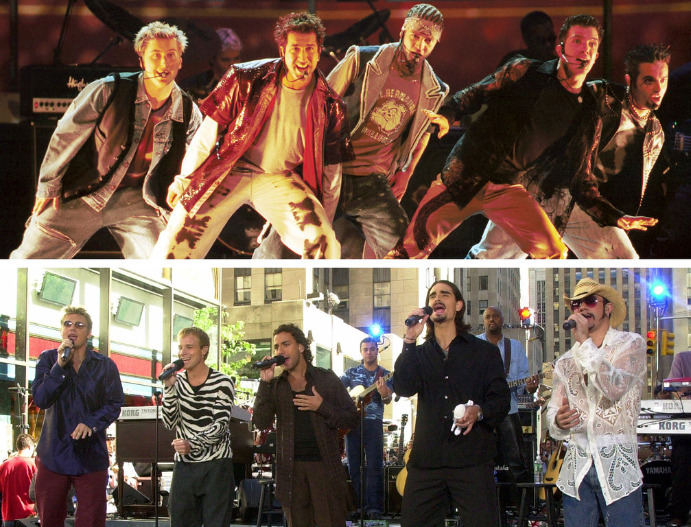 . It\'s N SYNC (top) vs Backstreet Boys (bottom) in the DJ Battle Night at House of Blues Cleveland on Aug. 3. Doors open at 8 p.m. For more information, visit houseofblues.com/cleveland.